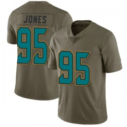 Abry Jones Jacksonville Jaguars No.95 Limited 2017 Salute to Service Jersey - Green