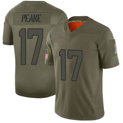 Charone Peake Jacksonville Jaguars No.17 Limited 2019 Salute to Service Jersey - Camo