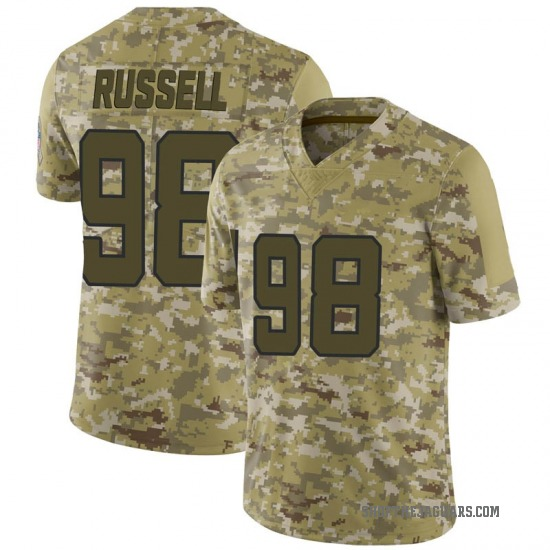 Dontavius Russell Jacksonville Jaguars No.98 Limited 2018 Salute to Service Jersey - Camo