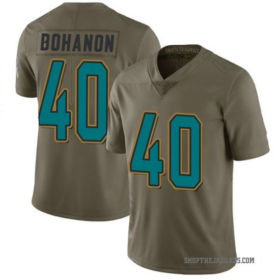Tommy Bohanon Jacksonville Jaguars No.40 Limited 2017 Salute to Service Jersey - Green
